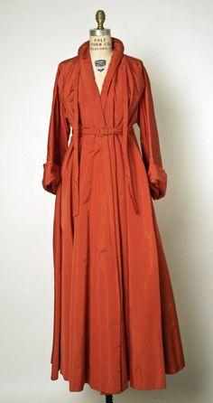 House of Dior Christian Dior silk evening coat fall/winter 1947–48