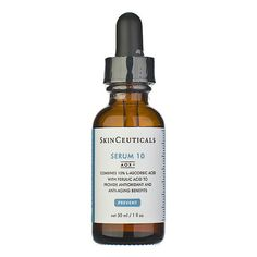 Ideal for sensitive skin types or conditions to help restore healthy looking skin, Serum 10 neutralizes free radicals, defends against environmental damage, and helps prevent premature signs of aging. Now formulated with AOX  advanced antioxidant technology, this lightweight, fast-absorbing serum combines ferulic acid with 10% pure vitamin C to enhance antioxidant performance