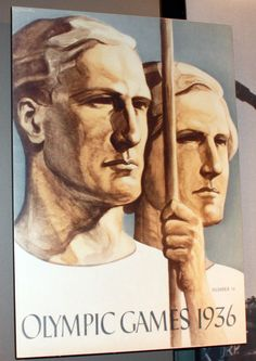 Poster from 1936 Berlin Olympics