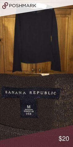 Brown fine knit pullover Banana Republic brown fine slightly sheer pullover Banana Republic Tops