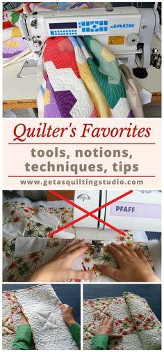 Quilter's favorites: tools, notions, techniques, tips. via @getagrama