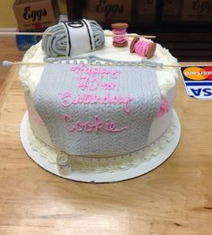 Knitting Cake From Saras Sweets Bakery Grand Rapids MI