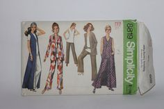 Simplicity sewing pattern 1960s 1970s trouser by redrococogarden