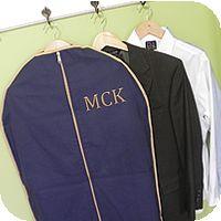 Solid Navy/Khaki Trim Garment Bag