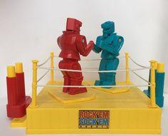 Rock'em Sock'em Robots Mattel Boxing Fighting Game Red Blue 2001 Classic Toy #Mattel