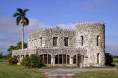 """Florida Memory - House on Redland Rd. called """"Coral Castle"""" - Homestead, Florida."""