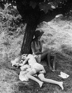 "funnybunnysgirl:  ""Summerheat"" Saint-Tropez, 1972, by David Hamilton"