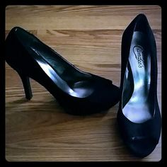 Black Candies Heels Very adorable, comfortable, only worn around the house twice. No trades or Paypal, all serious offers must be made through the offer button. Candie's Shoes Heels
