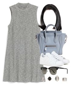 """Style #10545"" by vany-alvarado ❤ liked on Polyvore featuring Monki, adidas and Ray-Ban"