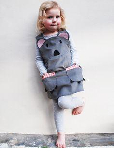 Koala bear girls dress. $60.00, via Etsy.