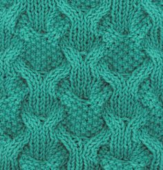 Free Knitting Pattern for Reversibly Cabled Dish Cloth - Sara H. Baldwin's reversible pattern features cables of 1 by 1 rib and seed stitch. Other knitters have used it for scarves and cowls.