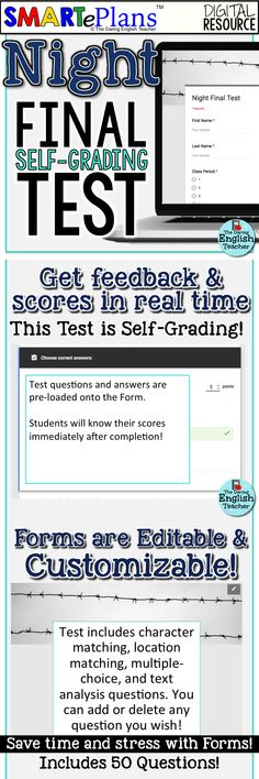Fahrenheit 451 test and crossword puzzle study guide multiple smarteplans night final test self grading google forms resource fandeluxe Choice Image
