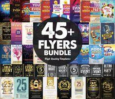 45+ Flyers Bundle by DesignWorkz on @creativemarket