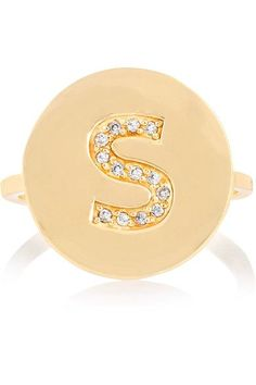 Jennifer Meyer - Letter 18-karat Gold Diamond Ring