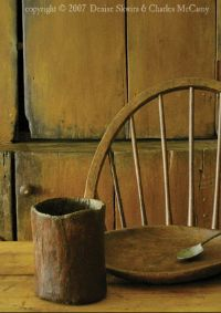 """A Place At The Table primitive greeting card.  Just about any """"prim"""" print could be a card!"""