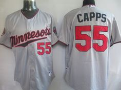 Capps Grey Jersey $18.99  This jersey belongs to Minnesota Twins  Color: grey Size: M, L, XL, XXL, XXXL  The jersey is made of heavy fabric with nylon diamond weave mesh