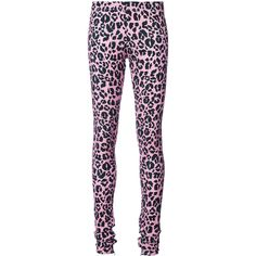 Barbara Bologna leopard print leggings (690 BRL) ❤ liked on Polyvore featuring pants, leggings, pink pants, pink trousers, leopard print leggings, legging pants and pink leopard pants