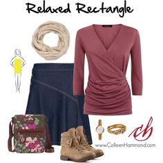 Relaxed Rectangle by colleen-hammond on Polyvore featuring Jaeger, See by Chloé, Sakroots, Salvatore Ferragamo, FOSSIL and maurices