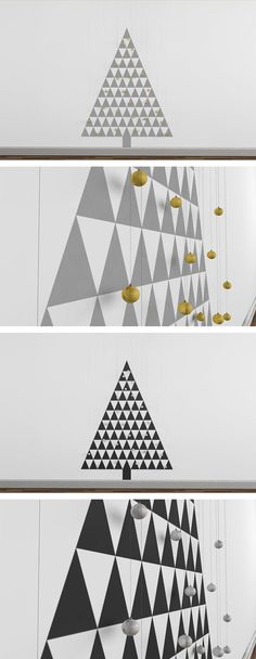 Christmas Tree Wall Decal - Geometric Xmas Tree - Modern Chirstmas -  TriNorth. $79.00, via Etsy.