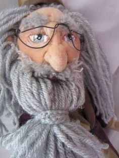 Dumbledore Cloth Doll - ~This looks like Jerry Garcia to me and this artist's work is amazing!~rcmg~ Doll by Paulette Burton