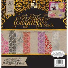 """Elegance  - Paper Stack 12""""X12"""" 48/Pkg"""