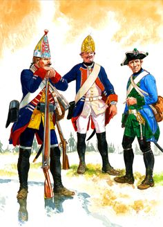 Hesse-Kassel Contingent of Lifeguard Grenadier, Berthold Fusilier and von Gerlach Musketeer, Seven Years War
