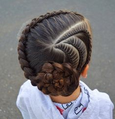 New braids for kids pony tail girl hairstyles ideas Pretty Hairstyles For School, Girls School Hairstyles, Kids Braided Hairstyles, Girl Haircuts, Little Girl Hairstyles, African Hairstyles, Trendy Hairstyles, Teenage Hairstyles, Hair Buns