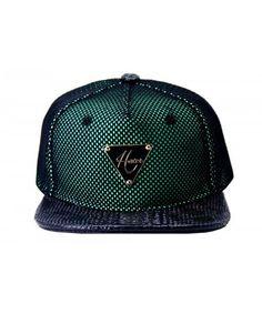 Boné Hater Snapback Reflective Verde Chapéus Masculinos 05ac68ff293