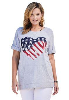 Super soft Americana flag tee - Women s Plus Size Clothing Plus Size Women 362b09172