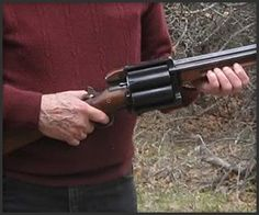 First we had the Raging Judge, now this. Home Gunsmith forum member hacked together parts from an 1857 Remington revolver and a 12 gauge shotgun. One more, and it's a trend. Weapons Guns, Guns And Ammo, Home Defense, Self Defense, Firearms, Shotguns, Revolvers, Cool Guns, Tactical Gear