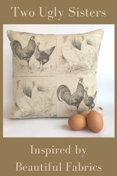 A classic Chicken and Cockerel Print on an oatmeal background teamed with a simple charcoal and stone check fabric. We think this cushion would look fabulous in a Country Farmhouse Kitchen and a fabulous gift for a Chicken Lover. Complimented with a red concealed zip for an extra finishing touch. Free Delivery