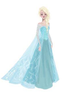Elsa Frozen by jennapaddey.deviantart.com on @DeviantArt