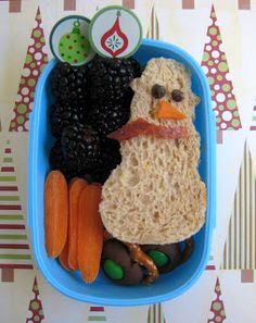 BentoLunch.net - What's for lunch at our house: A Festive Snowman Bento
