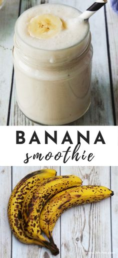 Banana Smoothie Recipe Banana smoothie - perfect healthy breakfast idea or a sweet snack. This healthy banana recipe can be made with frozen bananas and Greek yogurt! For more options read the description. This healthy smo Banana Juice Recipe, Frozen Banana Recipes, Healthy Banana Recipes, Smoothie Recipes With Yogurt, Yogurt Smoothies, Healthy Breakfast Smoothies, Smoothie Ingredients, Strawberry Smoothie, 2 Ingredients