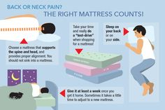 Research shows that a proper mattress and pillow can make a big difference in alleviating back and neck pain. If you already have back or neck problems, a proper mattress is a must. A good night's rest is extremely important to your health in so many ways and a good mattress can help prevent back problems by relieving pressure on joints, muscles and vertebrae.