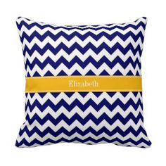 Navy Blue White Chevron Zig Zag Red Name Monogram Throw Pillow In our offer link above you will seeHow toOnline Secure Check out Quick and Easy. Monogram Pillows, Chevron Throw Pillows, Monogram Gifts, Decorative Throw Pillows, Chevron Patterns, Blue Chevron, Quatrefoil, Blue And White