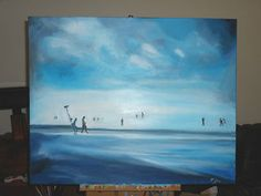Semi Absract Beach picture for Sale on Ebay hand painted in oils