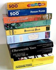 Vintage Lot of 9 Springbok Jigsaw Puzzles 500 - 1000 Pieces (Lot 1) #Springbok