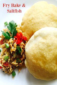 The Best Trinidad Style Fry Bake - Simply Caribbean Bake And Saltfish, Caribbean Recipes, Caribbean Food, Caribbean Bakes Recipe, Caribbean Culture, Trini Food, Baking Recipes, Healthy Recipes, Bread Recipes