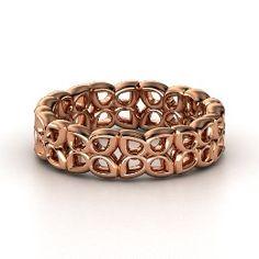 Quatrefoil Band, Rose Gold Ring from Gemvara