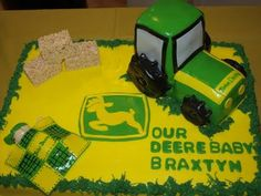 This is one lucky baby - its a John Deere Birthday Cake!