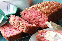 Strawberry Bread. Pretty and delicious looking! #spring #breakfast #desserts