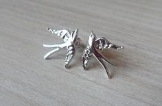 Bird Earrings, Silver Rings, Trending Outfits, Unique Jewelry, Handmade Gifts, Etsy, Vintage, Kid Craft Gifts, Craft Gifts