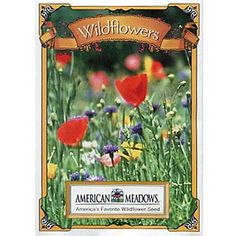 Wildflower Mix Seed Packet - Seed Packets from American Meadows Cute Crafts, Diy Crafts, American Meadows, Seed Packaging, Garden Guide, Wildflower Seeds, Growing Seeds, Seed Packets, Red Poppies