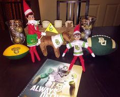 The elf on the shelf is ready for Baylor gameday!