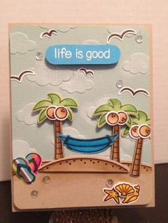 Lawn Fawn - Life is Good + coordinating dies _ cute beach scene by Jennifer via Flickr - Photo Sharing!