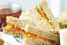 Carrot raisin sandwich