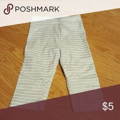 Toddler pants White and gold sparkle striped pants size 2t Old Navy Bottoms Casual