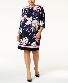 INC International Concepts Plus Size Printed Sheath Dress, Only at Macy's - Dresses - Women - Macy's
