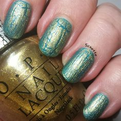 OPI Gold Shatter Glitter Nail Polish, Gold Nails, Coats, Silver, Pink, Top, Golden Nails, Spinning Top, Wraps